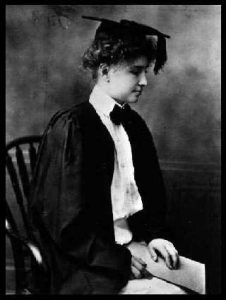 """The Miracle Worker"" - Helen Keller on her graduation day"