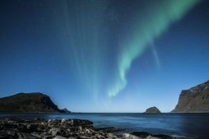 Norway - Northern lights from the Lofoten Islands