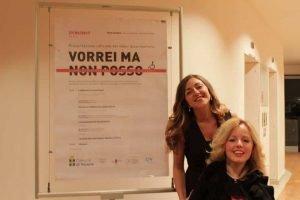 """Alessia e Valentina at """"Vorrei ma non posso"""" launch event"""